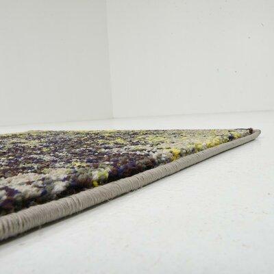 Aquarius Gray/Yellow Area Rug Rug Size: Runner 22 x 67