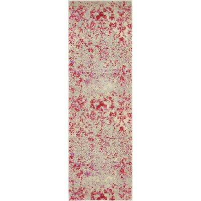 Fujii Beige/Pink Area Rug Rug Size: Runner 22 x 67