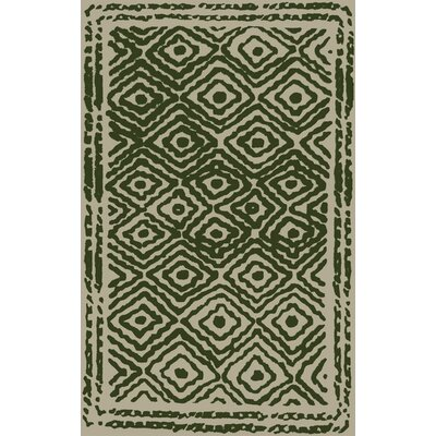 Sala Spruce Green/Beige Area Rug Rug Size: Rectangle 5 x 8