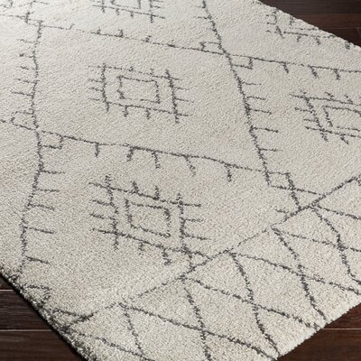 Audie Neutral/Brown Area Rug Rug Size: 53 x 77