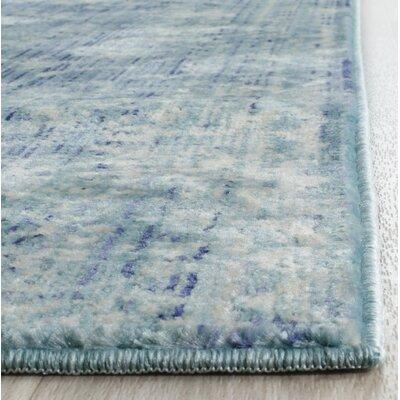 Doline Blue Area Rug Rug Size: Runner 22 x 12