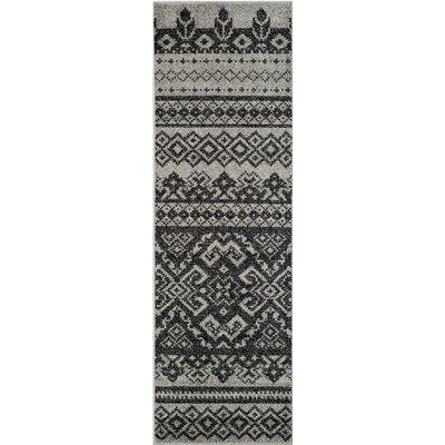 Norwell Geometric Gray/Black Area Rug