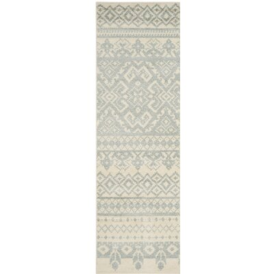 Norwell Beige/Gray Area Rug Rug Size: Runner 26 x 10