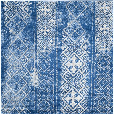Norwell Beige/Blue Area Rug Rug Size: Rectangle 4 x 6