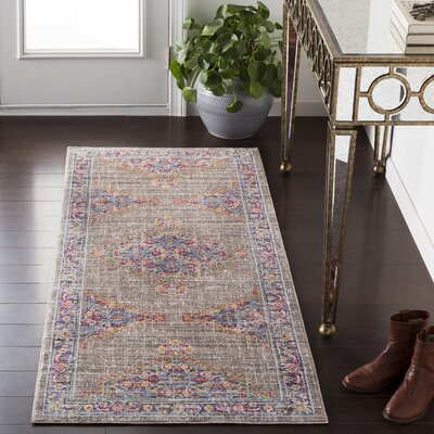 Fields Contemporary Purple / Blue Area Rug Rug Size: Runner 27 x 67