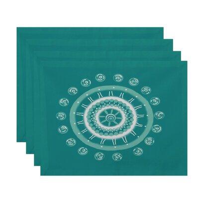 Nandai Geometric Placemat Color: Aqua