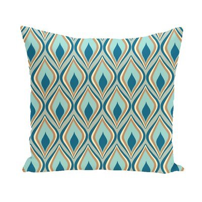 Shivani Geometric Print Outdoor Pillow Color: Teal, Size: 16