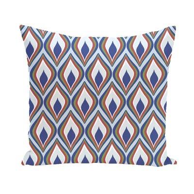 Shivani Geometric Print Outdoor Pillow Color: Blue Suede, Size: 16