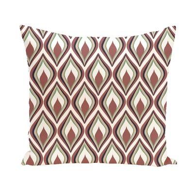 Shivani Geometric Print Outdoor Pillow Color: Mahogany, Size: 16