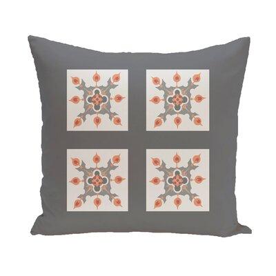 Shivansh Geometric Print Outdoor Pillow Color: Steel Gray, Size: 16
