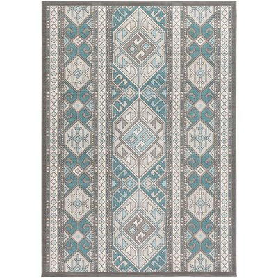 Septfontaines Teal/Beige Area Rug Rug Size: Rectangle 54 x 78