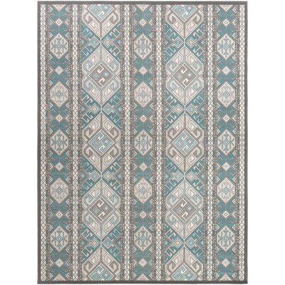 Septfontaines Teal/Beige Area Rug Rug Size: Rectangle 711 x 11