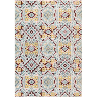 Septfontaines Gold & Teal Area Rug Rug Size: 2'2