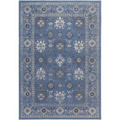 Denmark Blue/Gray Area Rug Rug Size: Rectangle 711 x 11