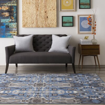 Hasselt Gray/Navy Area Rug Rug Size: Rectangle 28 x 5