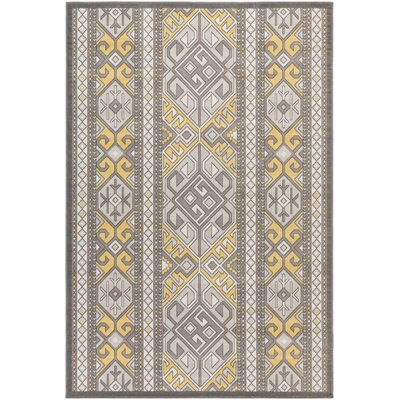 Hasselt Brown/Gold Area Rug Rug Size: Rectangle 54 x 78
