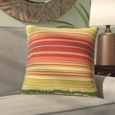 Alla Outdoor Throw Pillow Color: Kinnabari