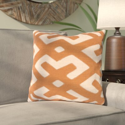 Kreta Linen Throw Pillow Size: 20 H x 20 W x 4 D, Color: Rust/Beige