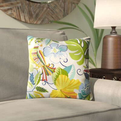Idrissi Outdoor Throw Pillow Color: Lensing Garden