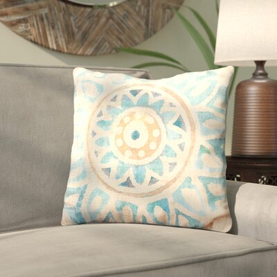 Dazey Floral Burst Outdoor Throw Pillow Size: 18 H x 18 W x 4 D, Color: Teal