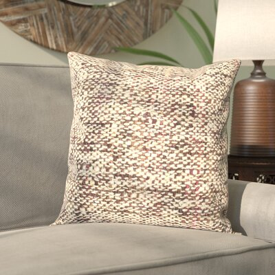 Freya Silk Throw Pillow Color: Burnt Brown