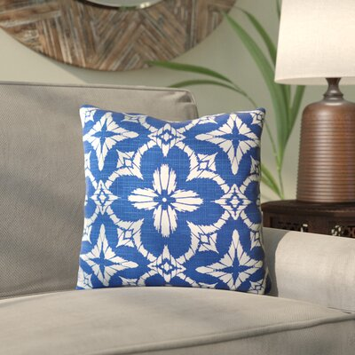 Boualam Outdoor Throw Pillow Color: Aspidoras Cobalt