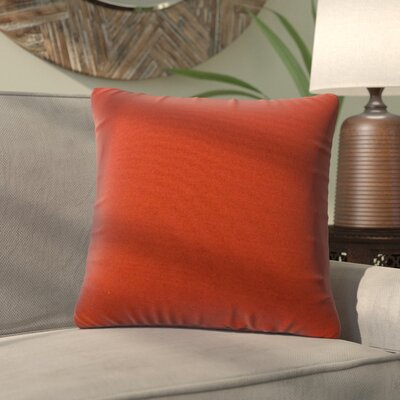 Alla Outdoor Throw Pillow Color: Salsa