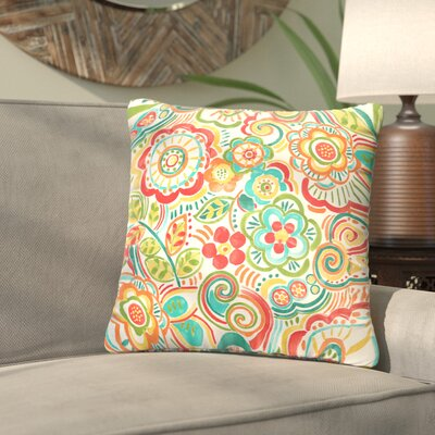 Lucie Outdoor Throw Pillow Size: 22 H x 22 W, Color: Green / Red