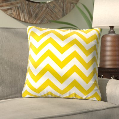 Alla Outdoor Throw Pillow Color: Yellow Zig Zag