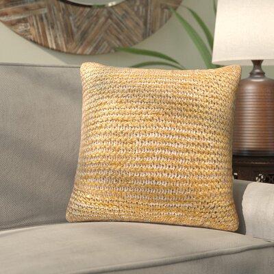 Deandra Cotton Throw Pillow Color: Bone / Gold