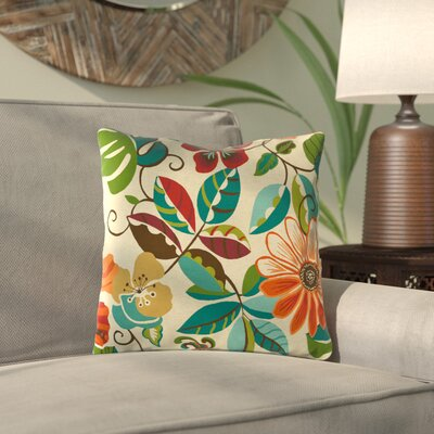 Idrissi Outdoor Throw Pillow Color: Lensing Jungle