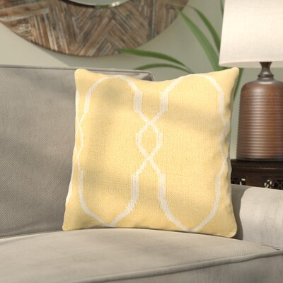 Cosima Geometric Wool Throw Pillow Size: 18 H x 18 W x 4 D, Color: Yellow / Ivory, Filler: Down