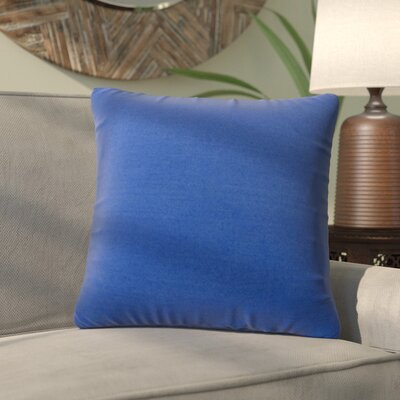 Alla Outdoor Throw Pillow Color: Marine Blue