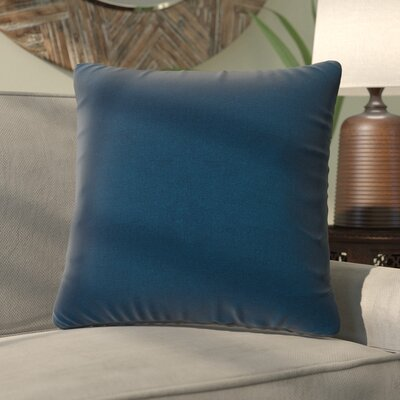 Fatouaki Indoor/Outdoor Throw Pillow Fabric: Navy Blue, Size: Large