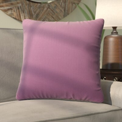 Fatouaki Indoor/Outdoor Throw Pillow Size: Large, Fabric: Lilac