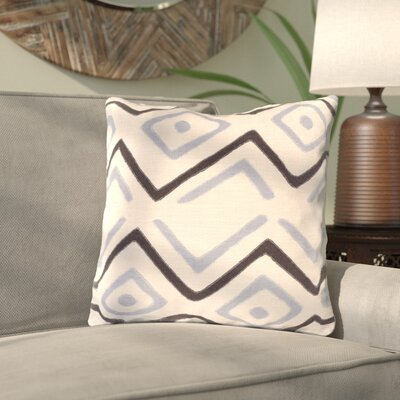 Kreta Linen Throw Pillow Size: 22 H x 22 W x 5 D, Color: Light Gray/Black/Charcoal