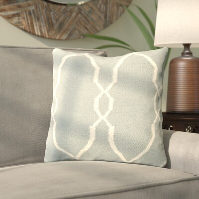 Cosima Geometric Wool Throw Pillow Size: 22 H x 22 H x 4 D, Color: Sky Blue / Ivory, Filler: Polyester