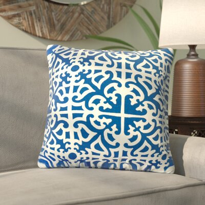 Alla Outdoor Throw Pillow Color: Indigo