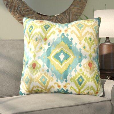 Camille Indoor/Outdoor Floor Pillow Color: Blue / Green