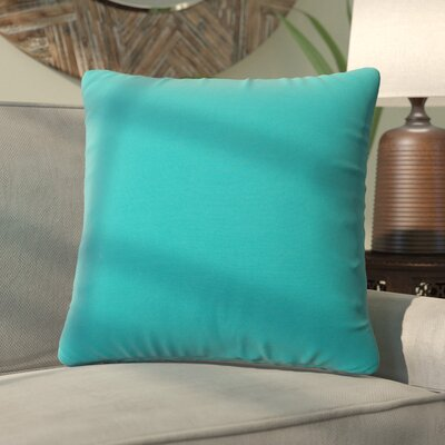 Fatouaki Indoor/Outdoor Throw Pillow Fabric: Teal, Size: Extra Large