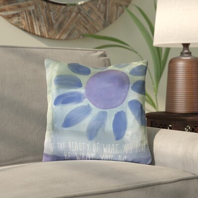 Amy Brinkman Rumi Beauty of Love Throw Pillow Size: 16 H x 16 W x 2 D