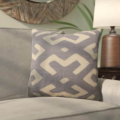 Kreta Linen Throw Pillow Size: 22 H x 22 W x 4 D, Color: Charcoal/Light Gray