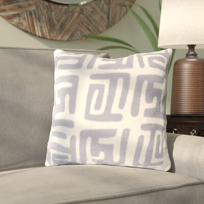 Kreta Linen Throw Pillow Size: 20 H x 20 W x 4 D, Color: Charcoal/Light Gray
