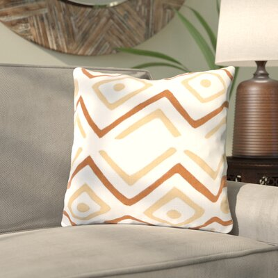 Kreta Linen Throw Pillow Size: 18 H x 18 W x 4 D, Color: Beige/Rust/Ivory