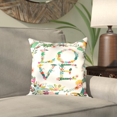 Antonio Love Outdoor Throw Pillow Size: 18 H x 18 W x 2 D
