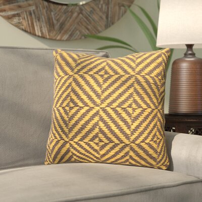 Daniella Cotton Throw Pillow Color: Yellow/Gray