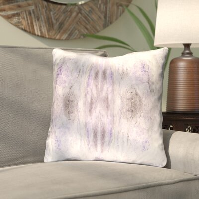 Antram Silk Throw Pillow Color: Purple/Neutral, Size: 22 H x 22 W x 5 D