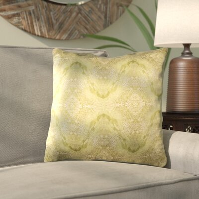 Antram Silk Throw Pillow Size: 22 H x 22 W x 4 D, Color: Neutral/Green