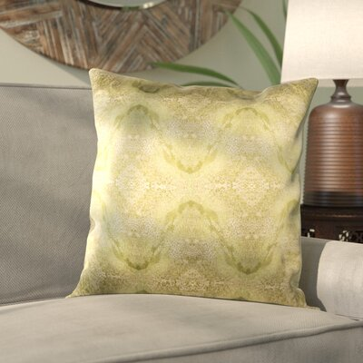 Antram Silk Pillow Cover Color: Neutral/Green, Size: 22 H x 22 W x 1 D