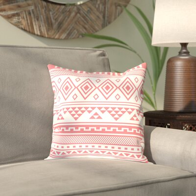 Antram Coral Tribal Outdoor Throw Pillow Size: 18 H x 18 W x 2 D